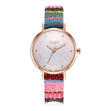 JA-924 2018 腕時計生地カラフルなボヘミアツイードドラマレトロスタイル腕時計 ファムドレス