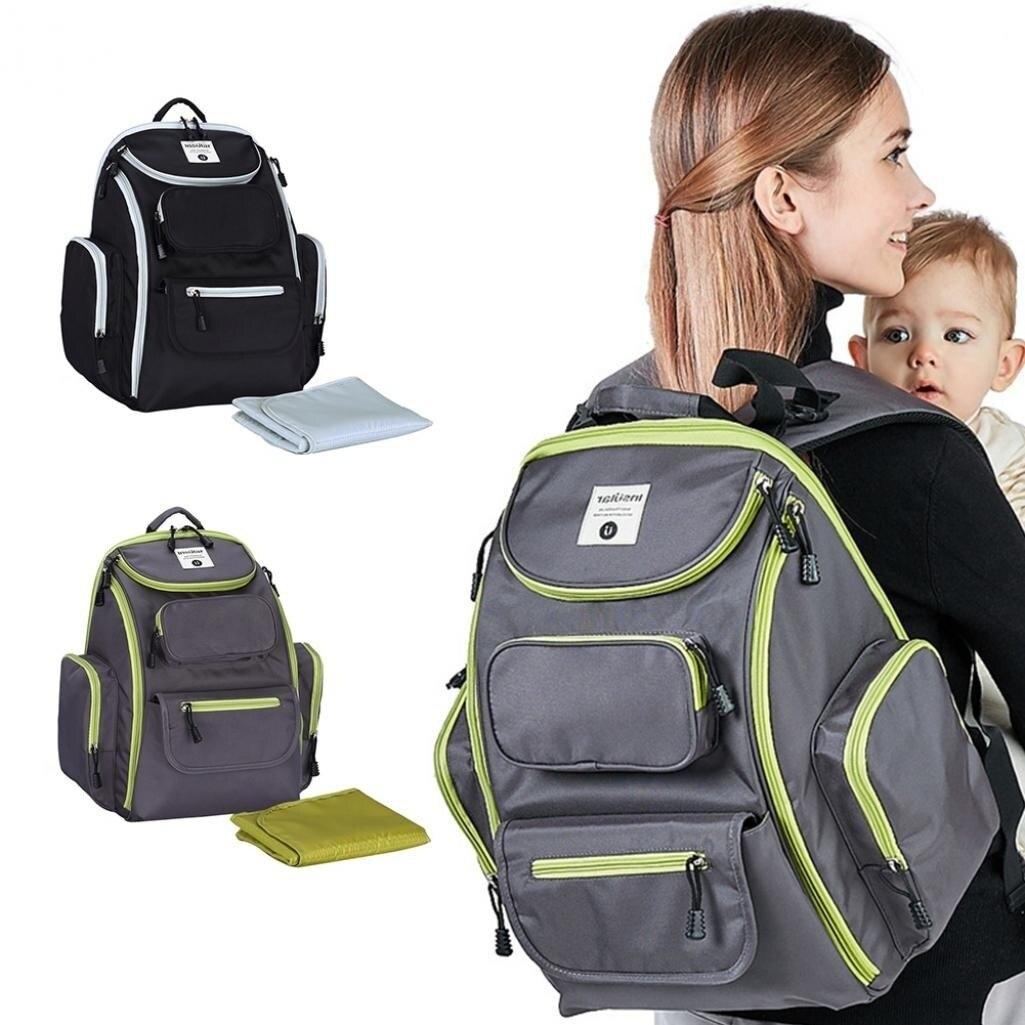 Luxe utile maternité momie grande capacité bébé sac à couches poussette Nappy changement sac à dos