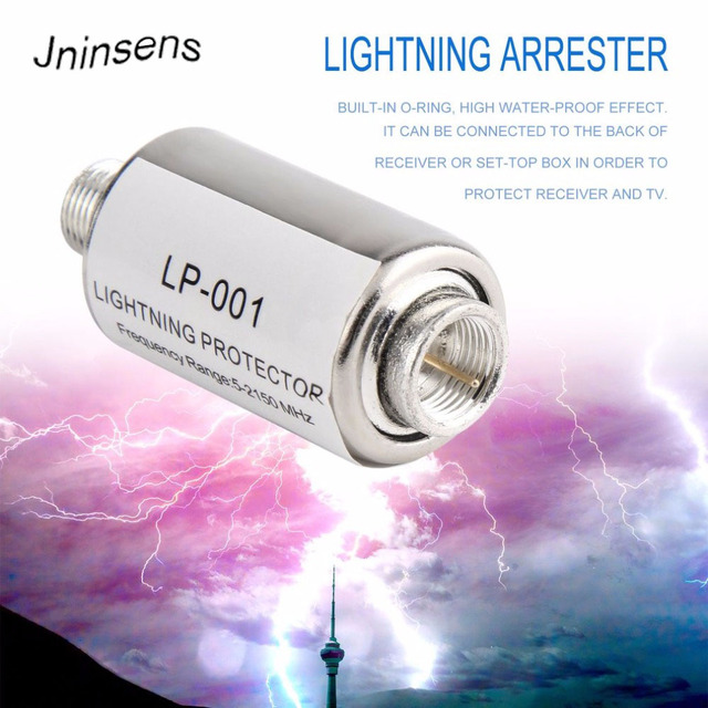 lighting protector coaxial satellite TV lightning protection devices satellite antenna lightning arrester 5-2150MHz