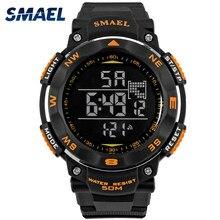 SMAEL cyfrowe zegarki 50m wodoodporny zegarek sportowy LED Casual elektronika zegarki na rękę 1235 Dive zegarek do pływania zegar Led cyfrowy