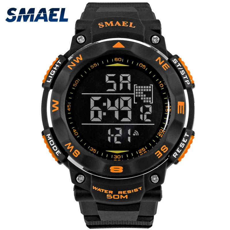 SMAE Digital Watches 50m Waterproof Sport Watch LED Casual Electronics Wristwatches 1235 Dive Swimming Watch Led Clock DigitalSMAE Digital Watches 50m Waterproof Sport Watch LED Casual Electronics Wristwatches 1235 Dive Swimming Watch Led Clock Digital