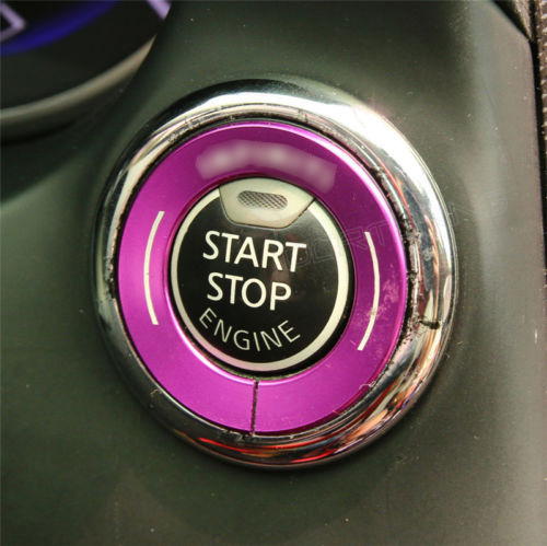 ملصق سيارة ل إنفينيتي Q50 Q50L QX60 مولد كهرباء بالبنزين مزود بمفتاح تشغيل غطاء 2014-2016 توقف مفتاح غطاء الكسوة حامي تقليم سيارة التصميم