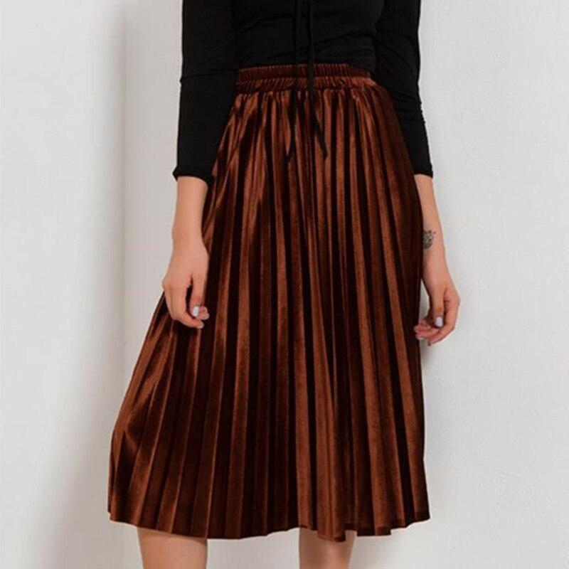 116fa12680a Купить юбка осень зима бархатная женская одежда больших размеров ...