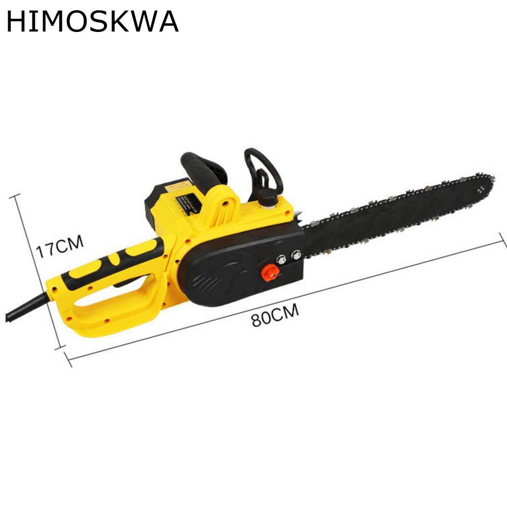 HIMOSKWA Electric Chain Saws 2200W Chainsaw  Logging Chainsaw Household Wood Chainsaw cutting machine free shipping electric chain saw timber carpentry high power electric chain saws wood