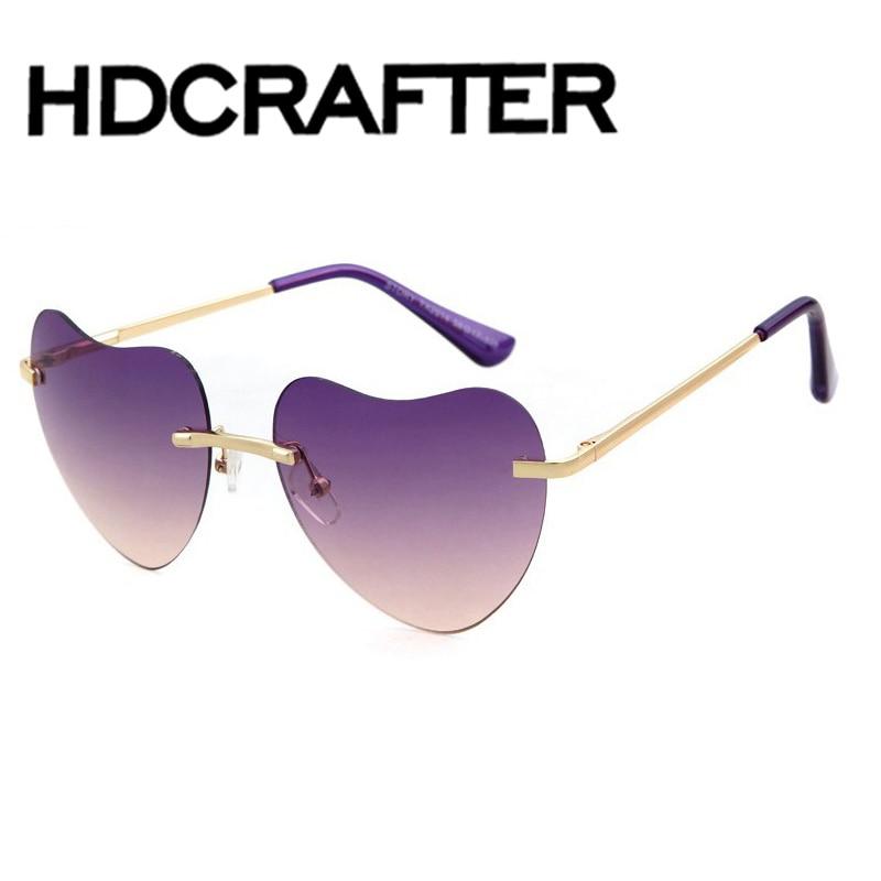 Vintage Sunglasses Women Top font b Fashion b font Summer Retro Rimless Sun Glasses lunettes de