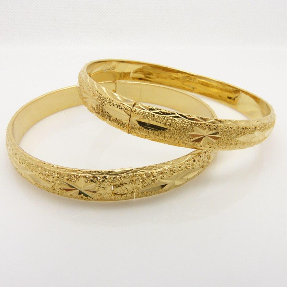 Women/'s Bangle 18k Yellow Gold Filled Open Charms Bracelet Fashion Jewelry