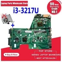 New fan+ X551CA I3 3217U 1 RAM Slot Laptop motherboard for ASUS X551CA F551C F551CA NoteBook Computer Test original motherboard