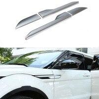 4PCS Set Silver Black ABS Car Styling Exterior Side Body Leaf Board Cover Trim Frame For