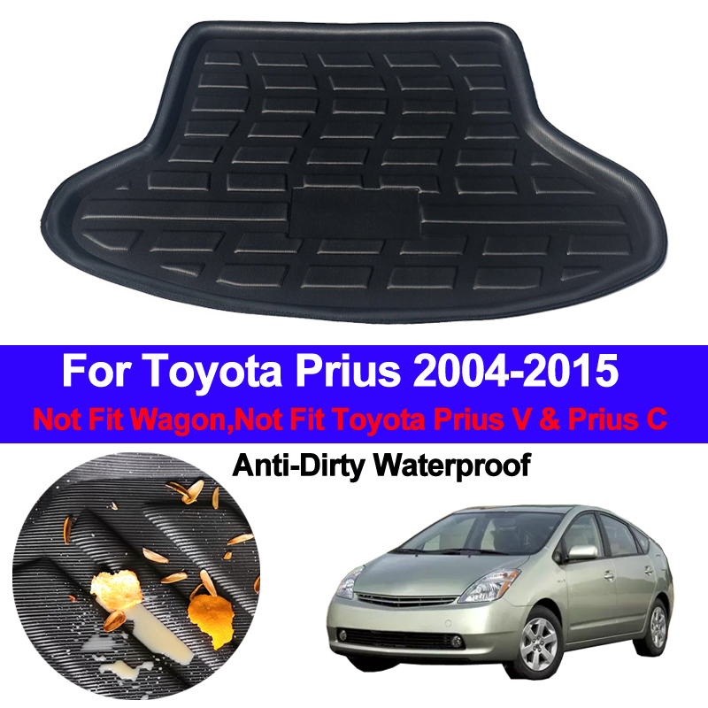 Rear Boot Cargo Liner Tray Trunk Floor Carpet Mats Mat Carpets Pad For Toyota Prius 2004 - 2013 2014 2015  Hatchback Liftback