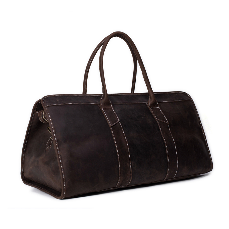 ROCKCOW Large capacity fashion genuine leather men travel bag Unisex - Luggage and Travel Bags