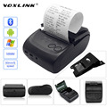 VOXLINK Mini Wireless 58mm Portable Bluetooth Thermal Receipt Printer With Cover USB Port for Android Mobile Tablet PC EU plug