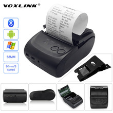 VOXLINK Mini Wireless 58mm Portable Bluetooth Thermal Receipt Printer With Cover USB Port for IOS Android Mobile Tablet PC