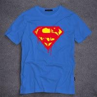 DC comics Superhero  Superman Logo T-shirt Summer Short Sleeve Tees 100% cotton  Men's T Shirt Fashion Costumes for Men S-5XL
