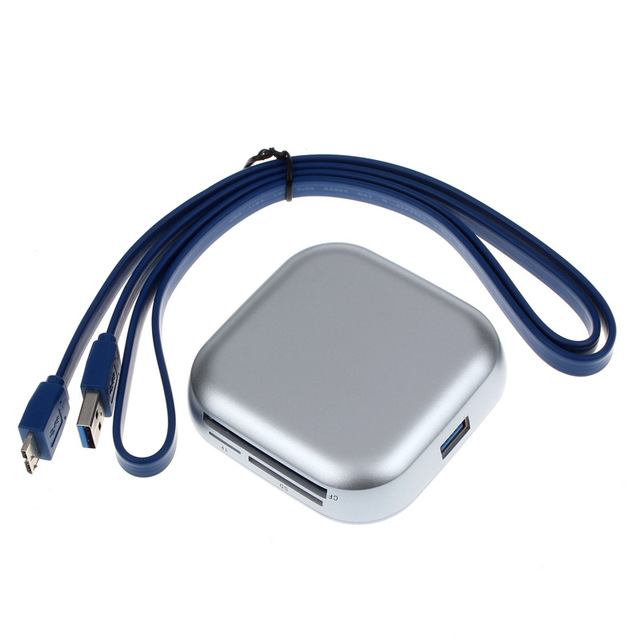 Новый USB 3.0 Compact Flash Нескольких Устройство Чтения Карт Памяти CF Адаптер SD TF Карта Aug26