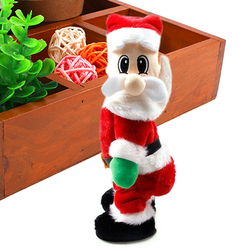 Electric Santa Claus Doll Toys Twisted Hip Dancing Sound Gifts Ornament