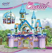 Xingbao 12024 Prince Charming Construction Building Blocks Toys for Girls' Dream Castle Princess and Prince Castle MOC Bricks disney princess игровой набор с мини куклами petite princess cinderella and prince charming