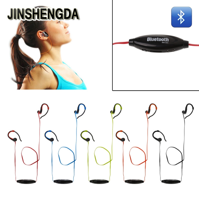 JINSHENGDA Ear Hook Earphone Bluetooth Stereo Ear Hook Sports Earphone Music Player FM Radio With TF Card Slot 7 hd 2din car stereo bluetooth mp5 player gps navigation support tf usb aux fm radio rearview camera fm radio usb tf aux
