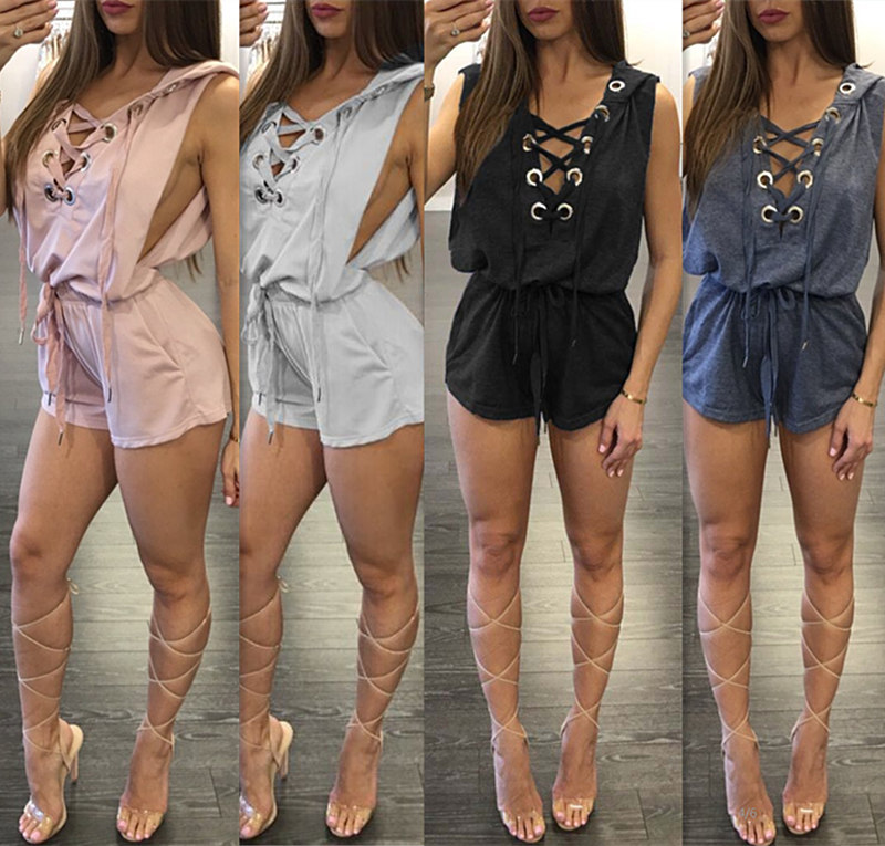 Summer 2017 New Rompers Womens Jumpsuit Body for Women Playsuit Fashion Bodycon Short Section Jumpsuit Womens Shorts Jumpsuit