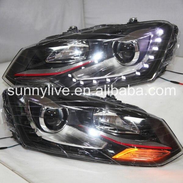 СВЕТОДИОДНАЯ головная лампа для VOLKSWAGEN Polo Mk5 Vento GTI red line polo 2010 14 лет TC Type
