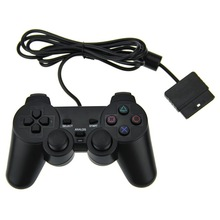 ViGRAND Free shipping 1pcs Wired Dual Vibration Joystick Gaming shock 2 GamePad JoyStick for PS2