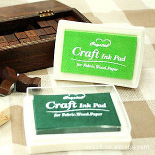 Pretty Oil Based DIY Craft Ink Pad Rubber Stamps for Fabric Wood Paper Wedding Decor Free Shipping in Stamps from Home Garden