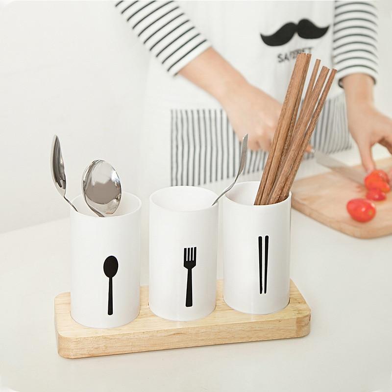 Cutlery Drainer Storage Racks Holders Organizer Kitchen Housekeeper For Spoons