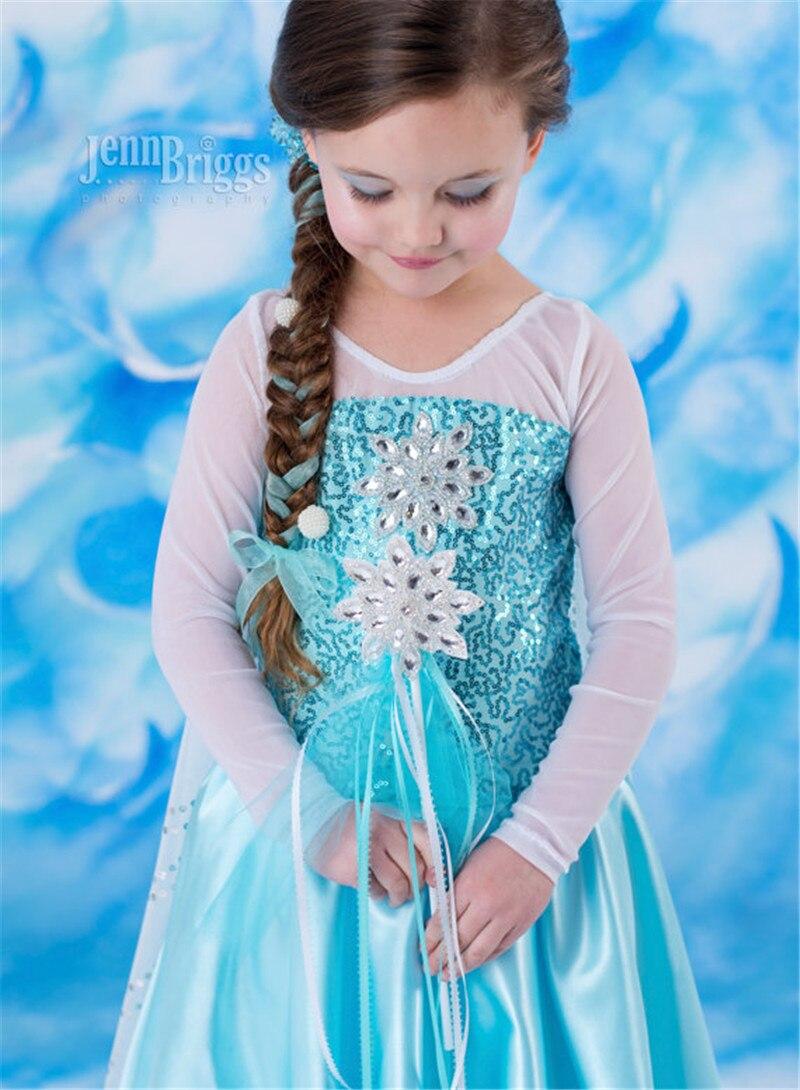 New Ice Girl Costume Anna Elsa Princess Dress Christmas Kids ...