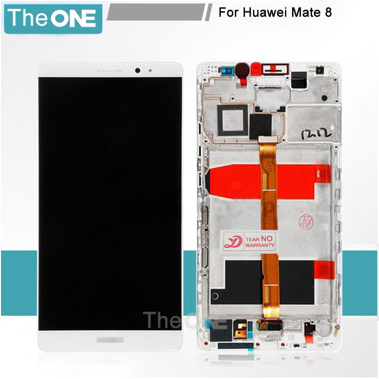 For Huawei Ascend Mate 8 LCD Display+Touch Glass Panel Digitizer+frame Assembly replacement white/black/gold 6 lcd display screen touch glass digitizer assembly for huawei ascend mate 8 mate8 white gold free shipping