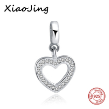 hot deal buy 925 sterling silver heart love charm cz stone beads fit original european charm bracelet beads diy jewelry making for women gift