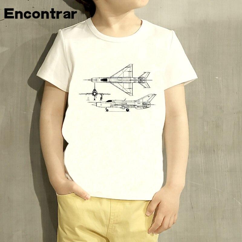 Kids MIG 21 Jet Air Plane Fashion Design Baby Boys/Girl TShirt Kids Funny Short Sleeve Tops Children Cute T-Shirt,HKP4005