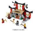 DIY Образовательные Игрушки для детей КИТАЙ БРЕНД S669 самоконтрящимися кирпича Совместимость с Lego Ninjago Ninjago Додзе Вскрытии 70756
