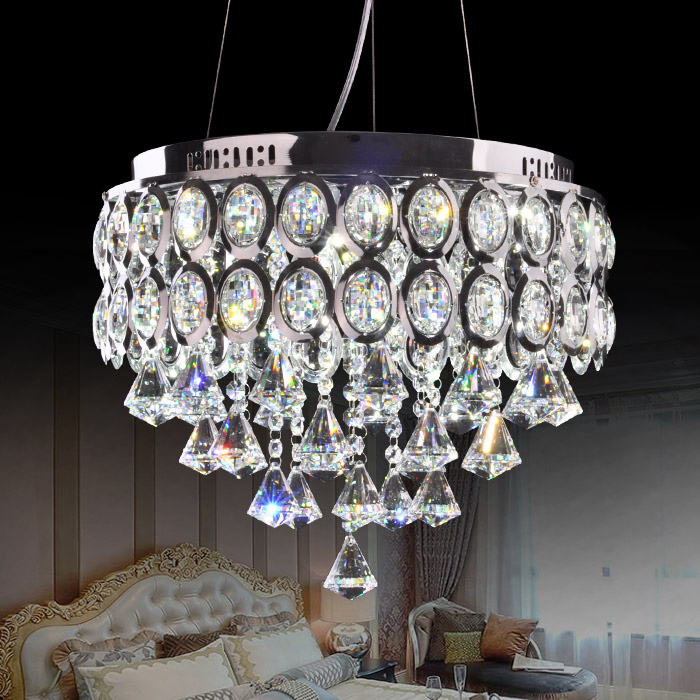 European 16 Crystal Living Room Pendant Light Dining Room Luxury Stainless Steel Round Top Pendant Hanging Lighting Fixtures modern crystal chandelier led hanging lighting european style glass chandeliers light for living dining room restaurant decor