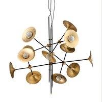 Nordic Динамик Форма подвесной светильник пост современный bjorn светодиодный вращающийся обеденный Caft Ресторан висит свет G9 светодиодный ламп