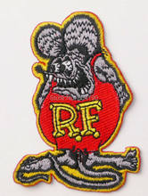 BIG DADDY Red RAT FINK CAFE RACER HOT ROD MC OUTLAW CHOPPER MOTOR Skull Embroidered IRON ON PATCH BIKER VEST LEATHER JACKET(China)
