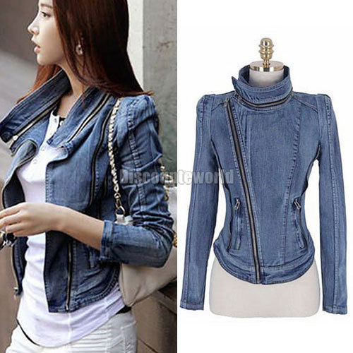 Fitted Denim Jacket Ladies - JacketIn