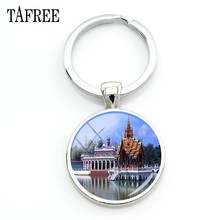 TAFREE The Mei Nan River Keychain famous river scenery Key Chain for women Bag Car Key Accessories glass gem Jewelry FA486(China)