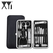 XYj 16 in 1 Manicure Set Nail Voet Manicure Pedicure Gereedschap Kit Nail Clipper Cutter Bestand Nail Art Care Tools met Travel Case(China)