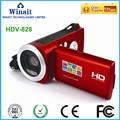 Tragbare digital video kamera HDV 828 15mp 4x digital zoom foto kamera günstige digital video camcorder-in Consumer-Camcordern aus Verbraucherelektronik bei