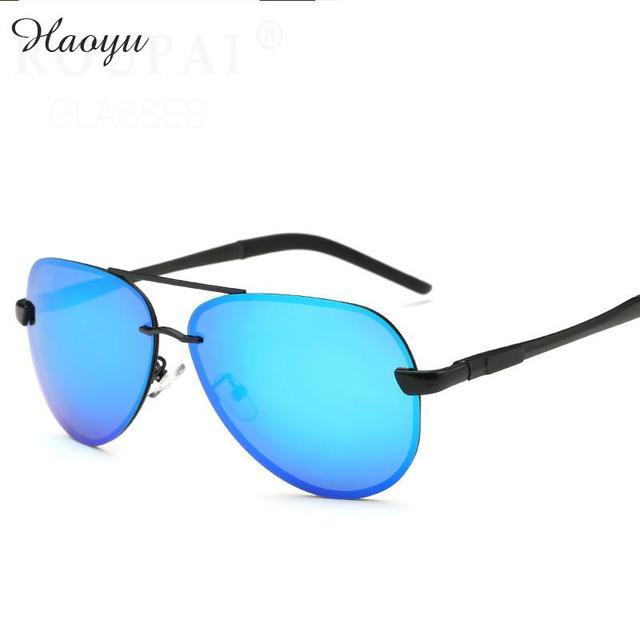 f0e9f51b040f haoyu High quality ultra clear polarizing lenses travel Driving outdoors  Polarized sunglasses Aluminum legs sun glasses