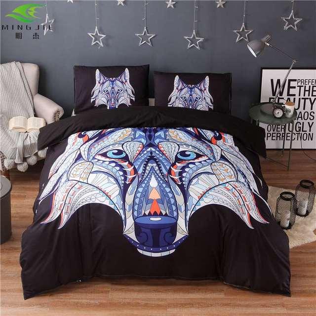 wolf head elephant 3d bedspread ingleuk queencn queenus queen