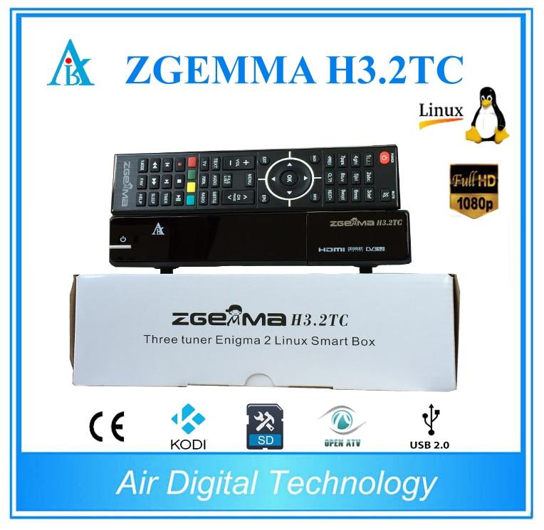 10pcs Best selling Zgemma H3.2TC DVB-S2+ 2x DVB-T2/C Dual Core Multistream 5W FTA satellite receiver satlink ws 6908 3 5 lcd dvb s fta data digital satellite signal finder meter