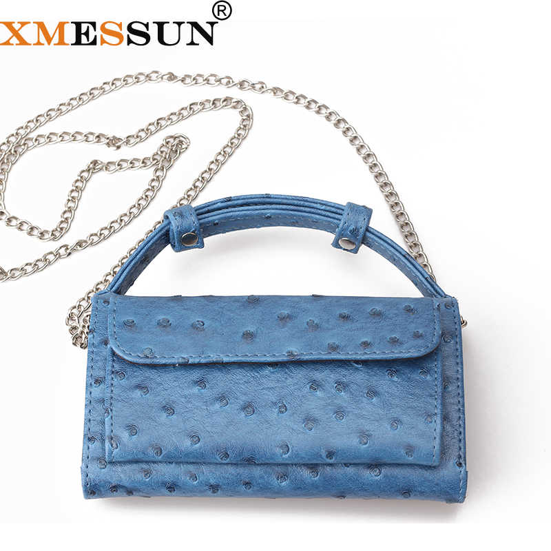 ff48ab65cb Fashion Real Cow Leather Day Clutch One Shoulder Cross-body Bag Ostrich  Pattern Genuine Leather