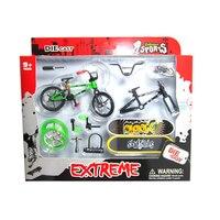 4 Pz Professionale Flick Trix Finger Bmx Biciclette/Bicicletta/Bicicleta Fingerboard Divertente Giocattolo Per I Ragazzi Con Gadget Casuale Consegna di colore