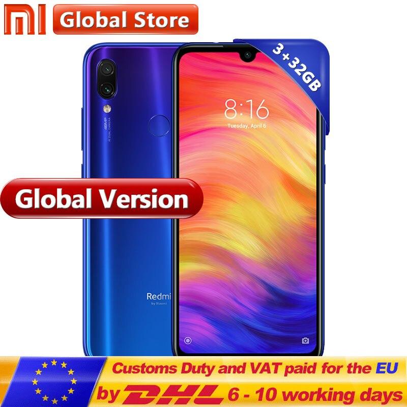 Глобальная версия Xiaomi Redmi Note 7 32 GB 3 GB мобильного телефона Snapdragon 660 Octa Core 4000 mAh 63 FullScreen13MP  48MP двойной Камера купить в магазине Mi Global Store на AliExpress