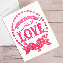 YaMinSanNiO Papercut All You Need Is Love Dies Floral Wreath Metal Cutting New 2019 Scrapbooking Paper Craft Die Cut