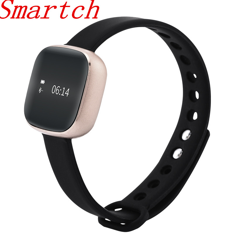 Smartch 2017 New Fashion Bluetooth Smart Bracelet For Women IP67 Waterproof Fitness Tracker Monitor Pedometer Alarm