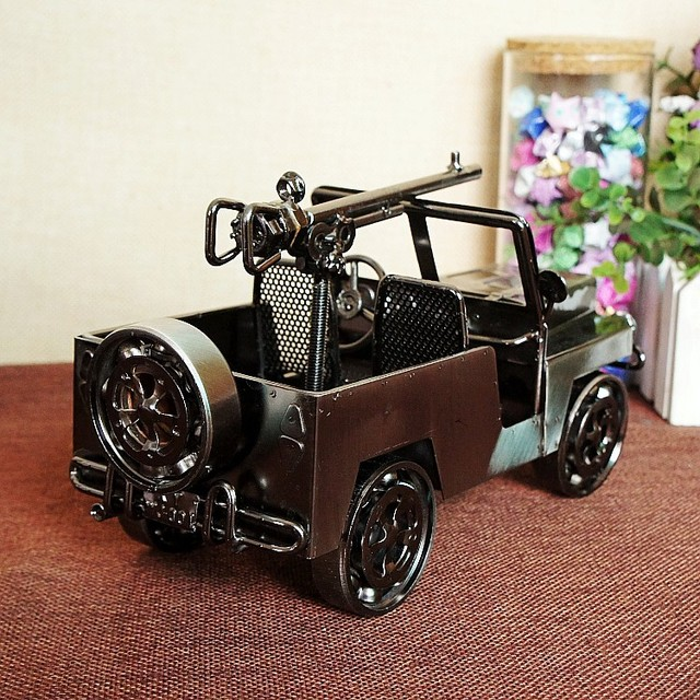 SMT002 Iron Vintage Car Model Chariot Ornaments Antique Iron crafts Gift