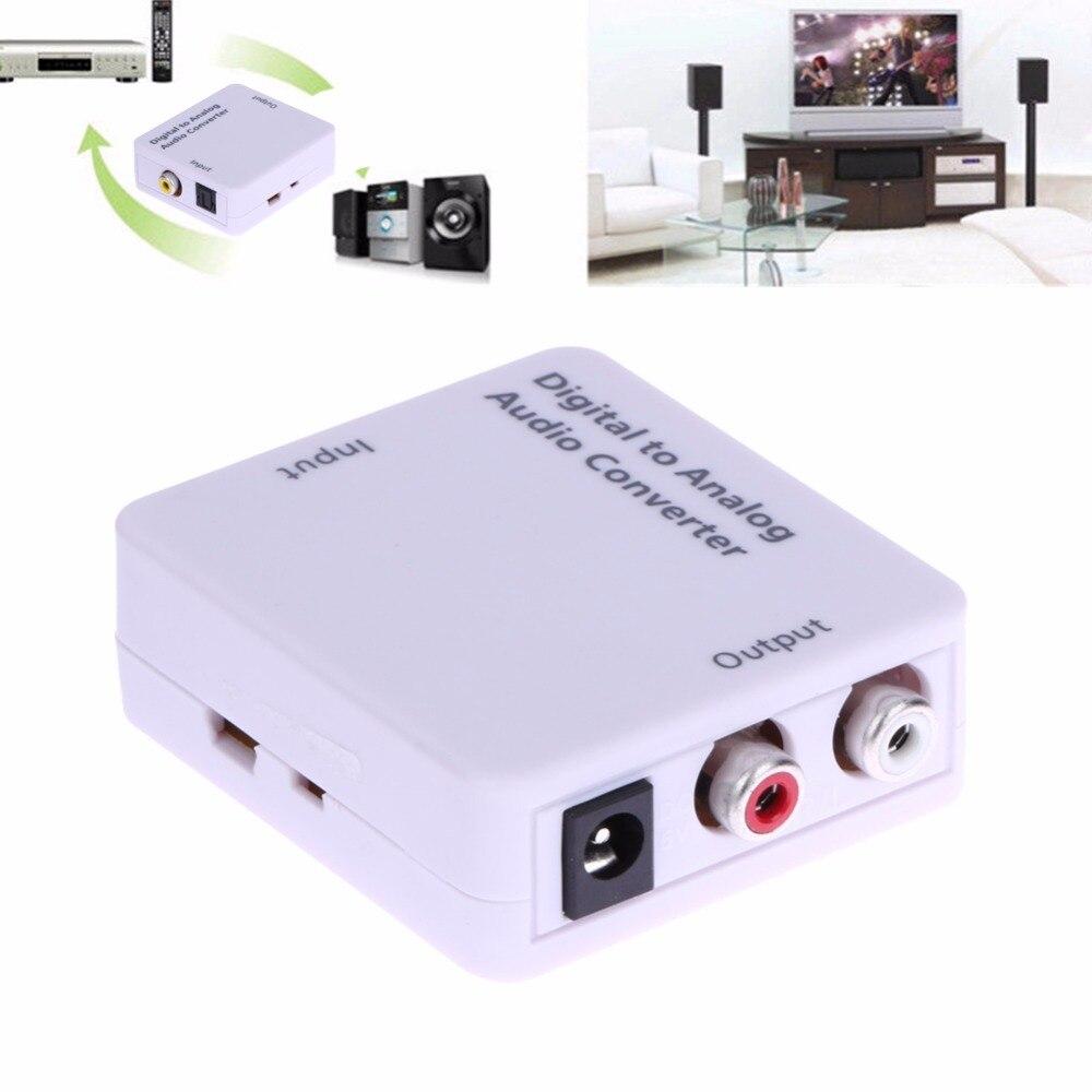Numérique à Analogique Audio Converter Adaptateur Numérique Optique Coaxial Toslink RCA L/R + USB Câble D'alimentation Audio Convertisseur adaptateur