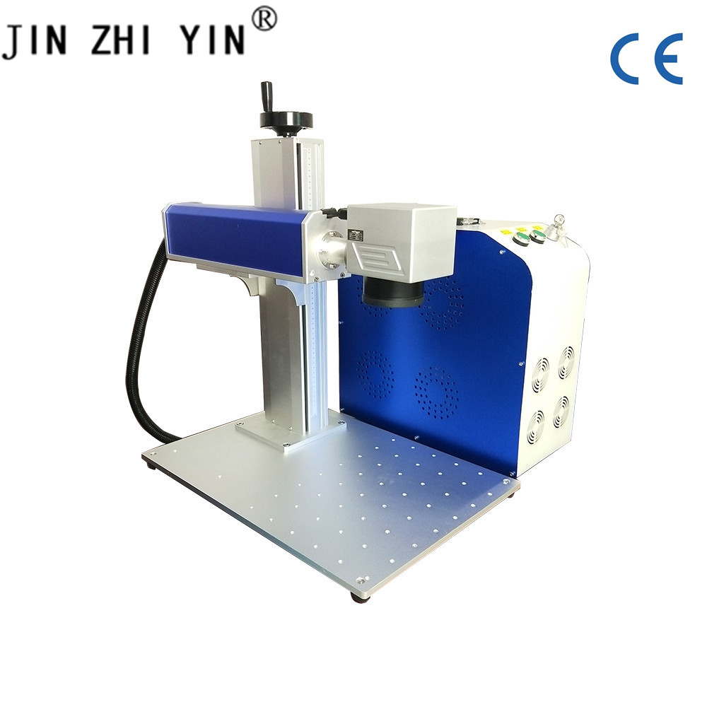 Mini Jewelry Laser Engraving Machine Fiber Laser Metal Marking Machine 20W With Raycus IPG Optional