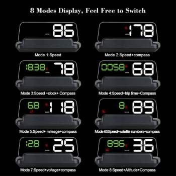 Hud T900 GPS Head Up Display Projector Digital Car Speed Projector On-Board Computer Fuel Mileage